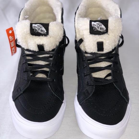 115828ca1a Vans SK8-Hi Reissue Lite (Sherpa) Black True White